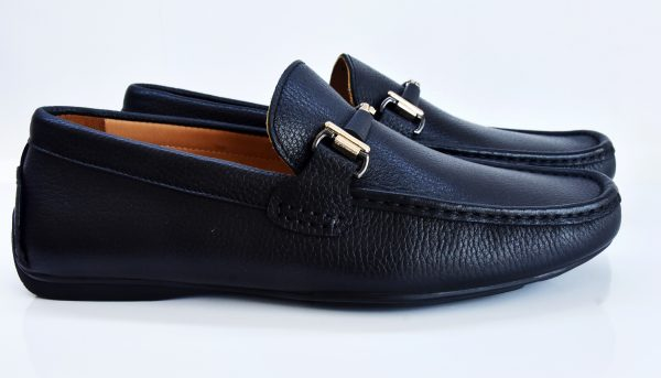 Black Leather Driver Shoes