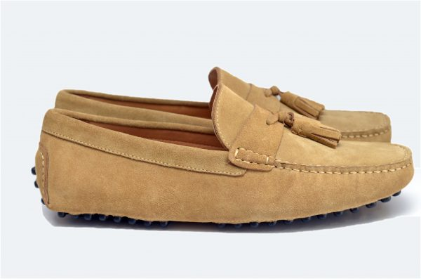 L Brown Driver Shoes with Tassel