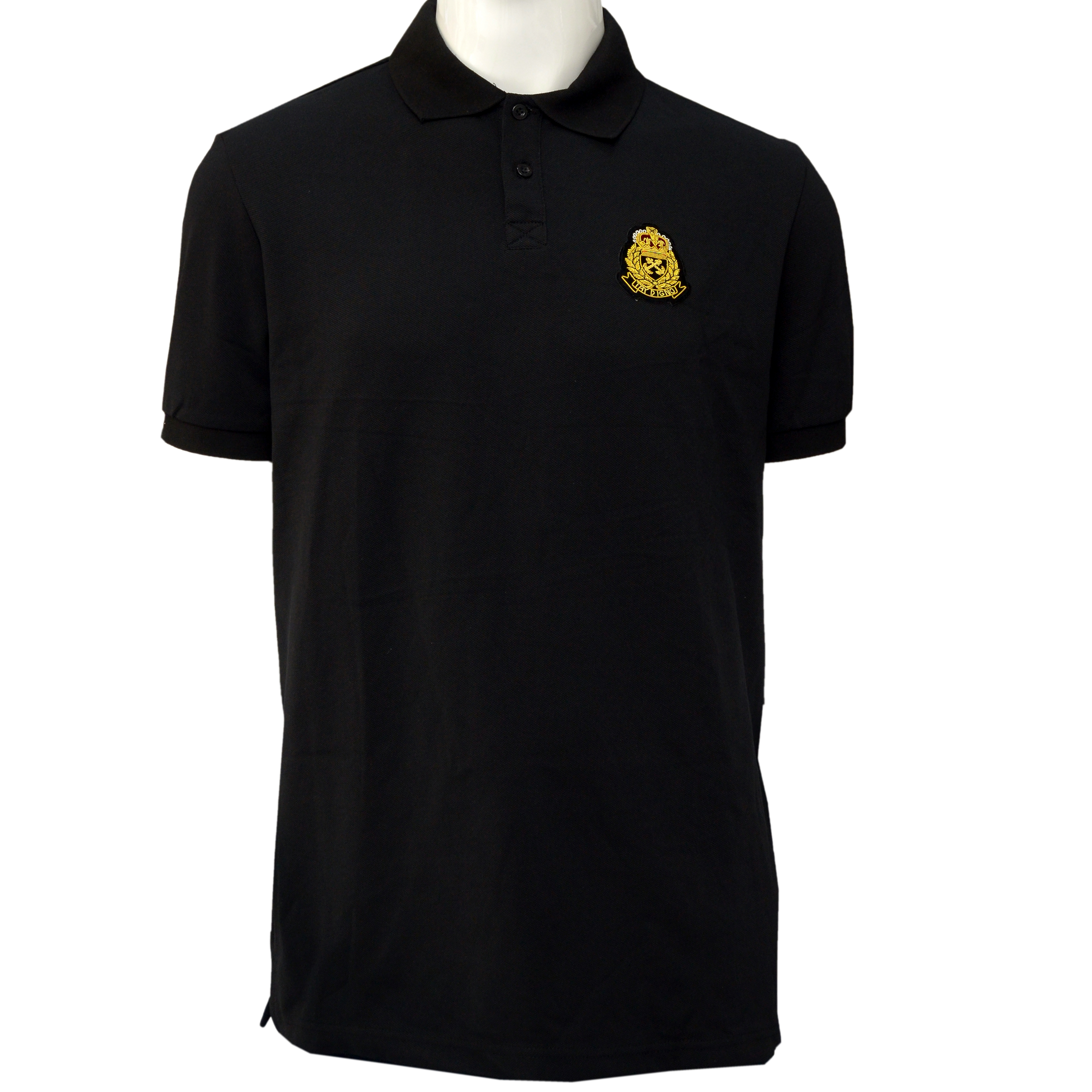 TD Crested Polo Black