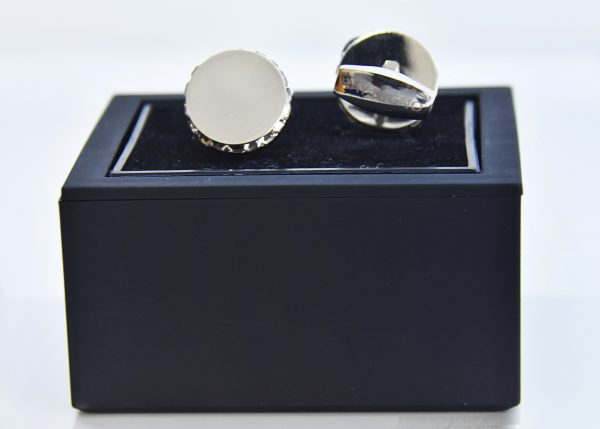 Cufflinks Sterling Silver with Stones