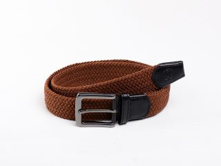 L Brown Elastic Belt