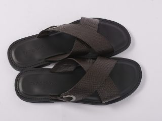 New brown X with ring slippers