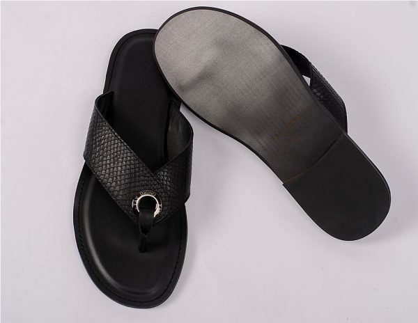 New black open toe with ring slippers