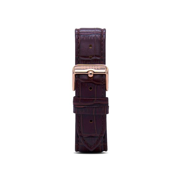 Coffee Silicon Gold Buckle Interchangeable Strap