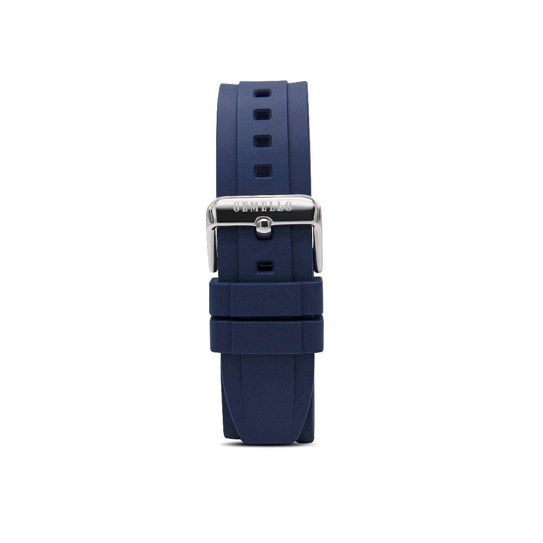 Blue Silicon Interchangeable Strap