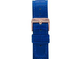 Gemello Rose Gold With Blue Leather Strap